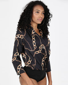 Paige Smith Shirt Bodysuit Gold