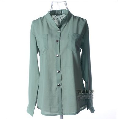 Women's Blouse Chiffon V-Neck Long Sleeve Button Office Ladies Going Out Plan Shirt