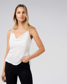 Forever New Carrie Cowl Neck Camisole Porcelain