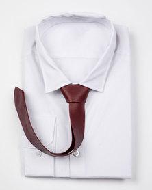 JCclick Leather Tie Burgundy Red