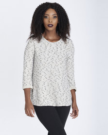 Contempo Textured Boucle Top Neutrals