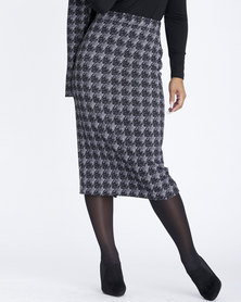 Contempo Tube Skirt with Back Vent Black
