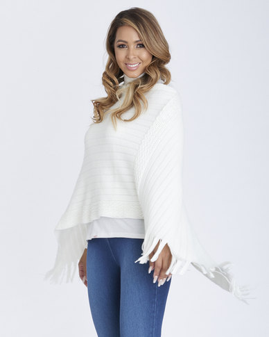 Contempo Textured Poncho Neutrals