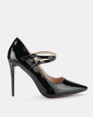 151c59c3b Sissy Boy Double Strap Heel Black