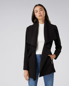 Forever New Lyla Wrap Coat Black