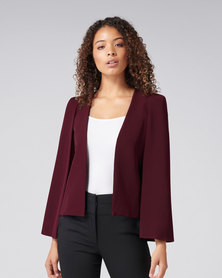 Forever New Abbey Capelet Burgundy