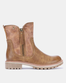 Bronx Women  Jess Ankle Boots Brown