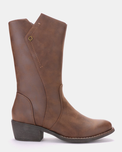 Bronx Jay Ankle Boot Brown