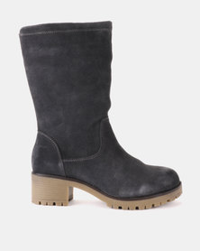 Grasshoppers Vicky Leather Ankle Boots Grey