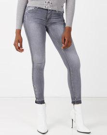 Sissy Boy Jon Jon With Unpicked Hem Skinny Jeans Grey