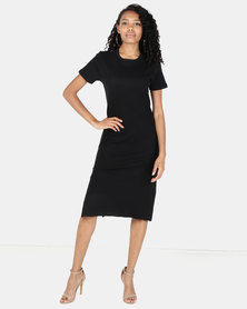 Utopia Rib Dress Black