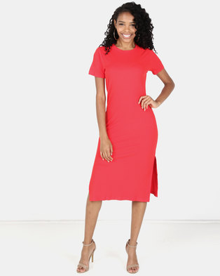 Utopia Rib Dress Red