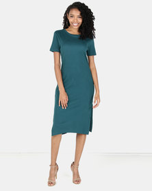 Utopia Rib Dress Forest Green