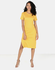 Utopia Rib Dress Mustard