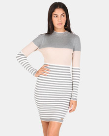 Sissy Boy Polo Knit Stripe Dress Multi