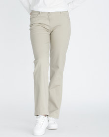 Contempo Stretch 5 Pocket Trousers Stone