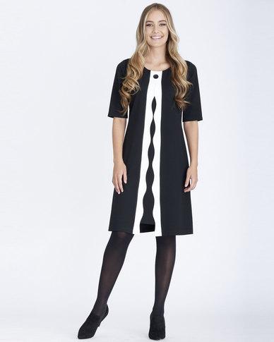 Contempo Twofer Dress Black