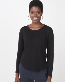 Roxy Love Sun Long Sleeve T-Shirt Black