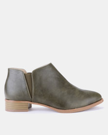 Jada Ankle Boots Olive