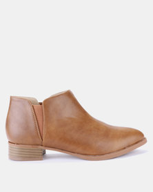 Jada Ankle Boots Tan