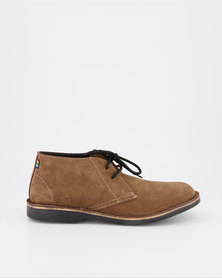 Veldskoen Brown Leather Shoes Black Sole