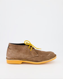 Veldskoen Brown Leather Yellow Soles