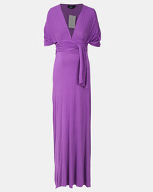 Hannah Grace Maternity Goddess Purple Dress