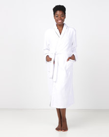 Lila Rose Shawl Collar Robe Milk