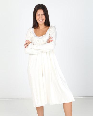Lila Rose Long Sleeve Grecian Chemise Milk