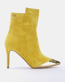 Miss Black Kirsten Ankle Boots Yellow