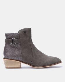 Miss Black Keynia Ankle Boots Grey