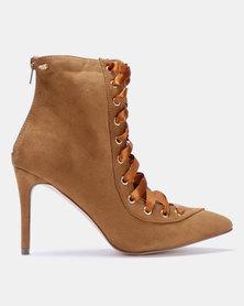 Miss Black Desiree Boots Tan