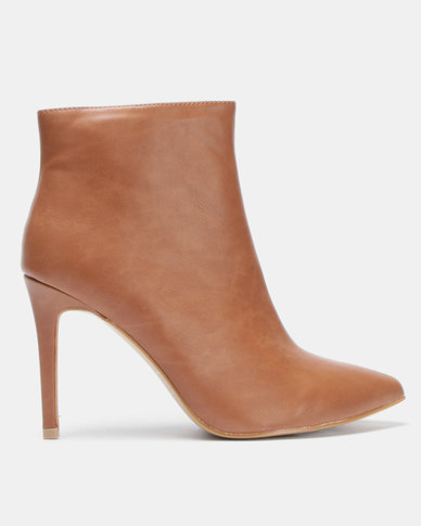 Jada Pointy Ankle Boot Tan