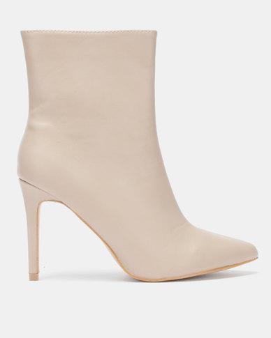 Jada Stiletto Ankle Boot Stone