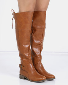 Jada Riding Boots Tan
