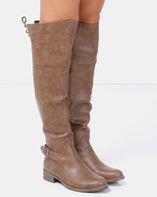 Jada Riding Boots Taupe