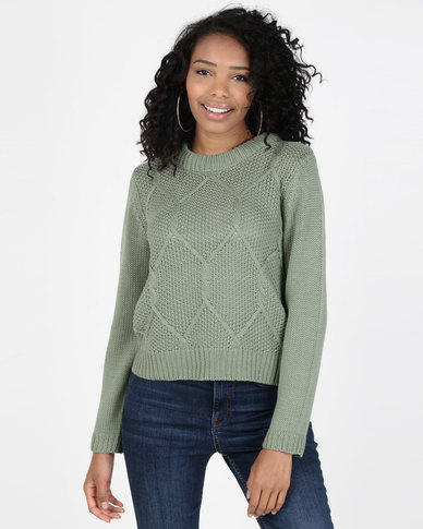 All About Eve Missing Link Knit Top Sage