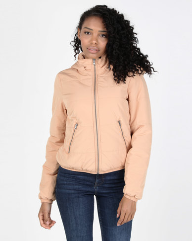 All About Eve Rose Puffer Jacket Tan