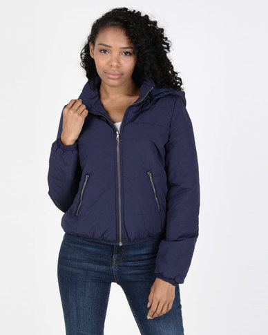 All About Eve Rose Puffer Jacket Navy