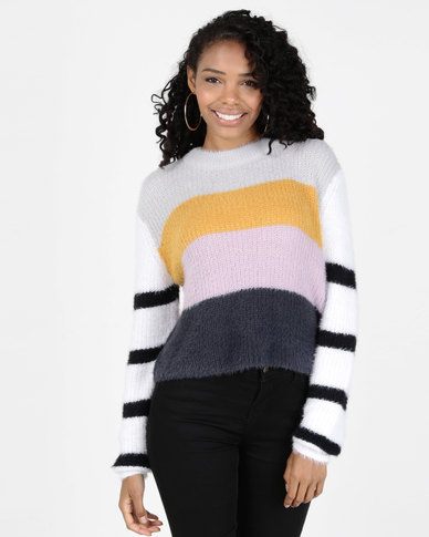 All About Eve Rare Find Knit Crew Top Multi