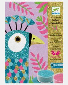 "Djeco Crafts - Sand & Glitter Art ""Dazzling Birds"""