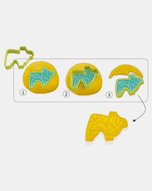 Djeco Play Dough - 6 press moulds & 6 stamps - Pet animals