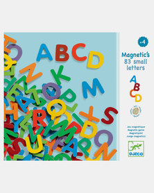 Djeco Wooden Magnetics 83 Letters - Multicoloured