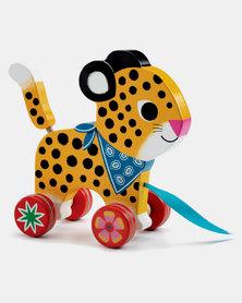 Djeco Pull Along - Greta the Leopard