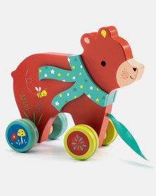 Djeco Pull Along - Laslo the Bear