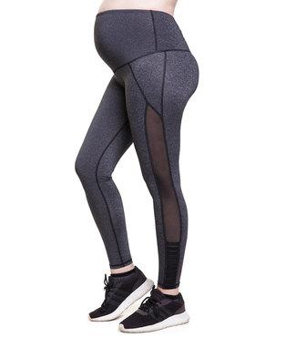 Fit Mama Medium Support Leggings Charcoal Granite