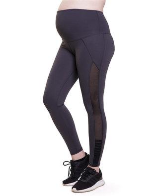 Fit Mama Medium Support Leggings Dark Grey