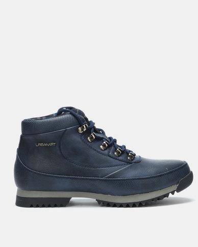 Urbanart Crocco 4 Wax SNA Boots Navy