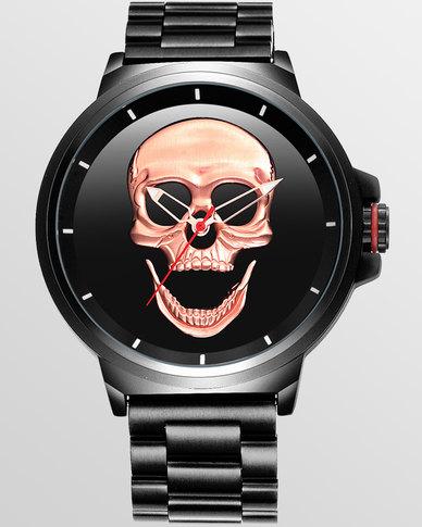 Skone Bristol Stainless Steel Men's Watch - Rose Gold