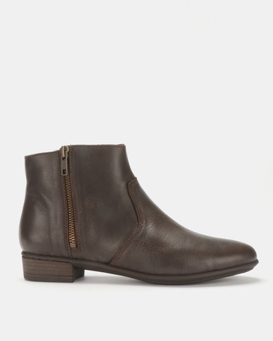 Tsonga Leather Umvimbo Ankle Boots Choc Relaxa